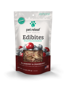 pet.releaf Blueberry Cranberry CBD Hemp Oil Edibites